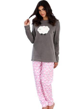 Πυτζάμα Γυναικεία Minerva Sheeps - Ζεστό Fleece   Βαμβάκι -Γούνινο Σχέδιο -  Hot Pick 18 bb2e822b23a