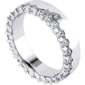 587a560927 Δαχτυλίδι σειρέ σε λευκό χρυσό Κ18 με 27 μπριγιάν