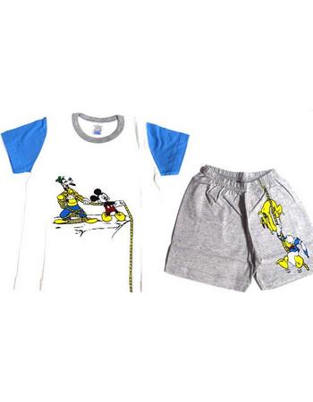Πυτζάμα παιδική Mickey κοντομάνικη βαμβακερή f0e42587930