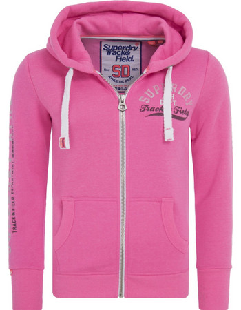 SUPERDRY TRACK   FIELD ZIPHOODΙΕ ΓΥΝΑΙΚΕΙΟ G20001NR-WL7 (WL7 TRACK HOT PINK) 034e667a358