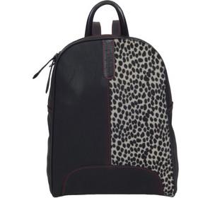 Γυναικεία Τσάντα Πλάτης A4 Playbags Collection J028. Μαύρο+Leopard b73e9359679