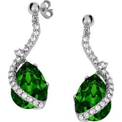 Ασημένια σκουλαρίκια 925 με σκούρη πράσινη πέτρα SWAROVSKI SK-V34719GSL1 7d8ed6602ad