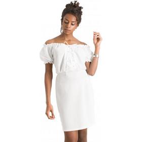 8f2bf300ee3 F20459 Φόρεμα με Κορδόνι στο Μπούστο - ΑΣΠΡΟ 18405