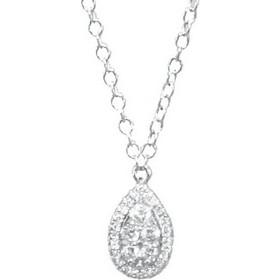 Κολιέ λευκόχρυσο Κ14 με 5 φυσικά διαμάντια 7037 dd93a2aa400