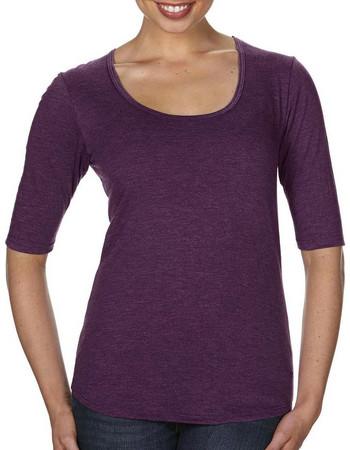 c95b0fcd092f Γυναικείο Μπλουζάκι με στρογγυλό λαιμό Womens Tri-Blend Deep Scoop 1 2  Sleeve Tee
