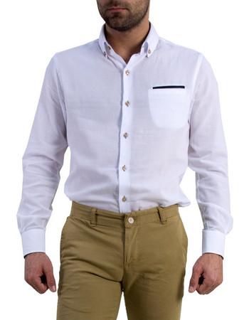 a27f3736bd74 Ανδρικό πουκάμισο Gio.S λευκό 903718F