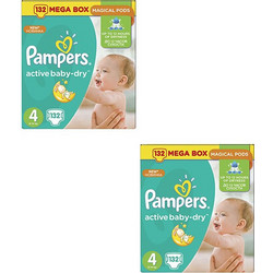 Pampers Active Baby Dry Maxi No4 8-14kg 2x132τμχ e0140f2fbb8