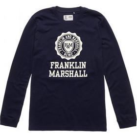 ed12f3890c30 T-shirt ανδρικό μακρυμάνικο με στρογγυλή λαιμόκοψη Franklin   Marshall  (TSMF247XNW18-0167-
