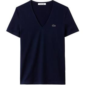 479d1e9fec15 Γυναικείο T-shirt μονόχρωμο με V λαιμόκοψη Lacoste - TF8908 - Μπλε Σκούρο