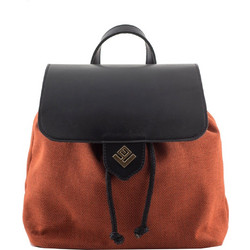 ccd8821ecd Lovely Handmade Backpack Eternity Bone Orange 5BP-PB-17