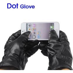 Δερμάτινα Unisex Γάντια για Οθόνης Αφής eeb20289a17