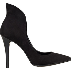 4eb7d464a0b Γόβες από Συνθετικό Suede Μαύρο Δέρμα, Envie Shoes, Τακούνι 10cm κωδ. 02-