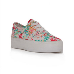 bbaeb516526 Coolway Sneakers Γυναικεία Παπούτσια Φλοράλ Dodo Λευκό Coolway Dodo