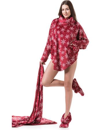 Γυναικεία κάπα-ρόμπα fleece HARMONY 22-45706 - ΜΠΟΡΝΤΟ 8bd06031d5d