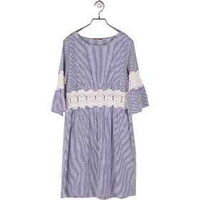 f21a247ff675 Ριγέ Φόρεμα με δαντέλα LIU JO