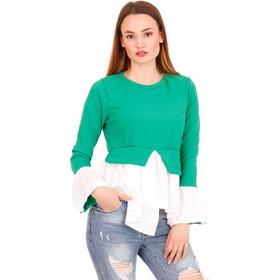f6e496fa5a Πράσινη Ripped Μακρυμάνικη Μπλούζα Πράσινο Silia D