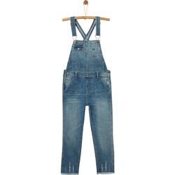 18309405371 OVS παιδική σαλοπέτα τζην παντελόνι used effect - 000392969 - Μπλε Σκούρο