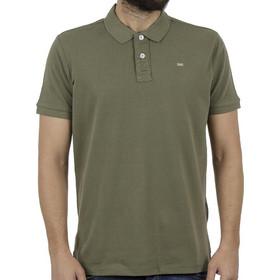 fdde361340d2 Ανδρικό Κοντομάνικη Μπλούζα με Γιακά Polo FUNKY BUDDHA FBM001-11119 Χακί