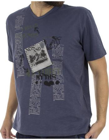 Ανδρικό Κοντομάνικη Μπλούζα V-Neck T-Shirt START CARAG 55-255-18N c3269871957
