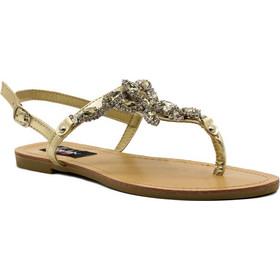 bba64fab450 Σανδάλια χρυσά δερματίνη με στρας 302300gold. Tsoukalas Shoes
