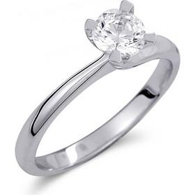 Μονόπετρο δαχτυλίδι από λευκό χρυσό 14 καρατίων με πέτρα Swarovski. PLL029 df0b16c684d