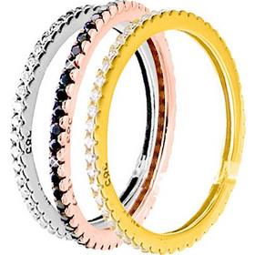 Χρυσά ολόβερα δαχτυλίδια Κ14 με ζιργκόν DS052A d794eaedfef