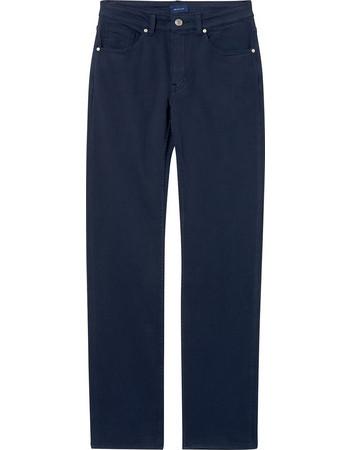 Gant γυναικείο υφασμάτινο παντελόνι πεντάτσεπο (32L) - 4100054 - Μπλε Σκούρο f0adbd60472