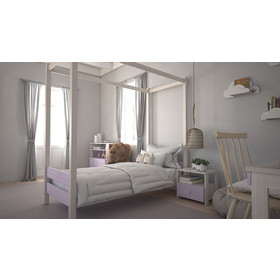 f876c30a9d4 Kids Code παιδικό κρεβάτι μασίφ φοίνικας Χ με ουρανό