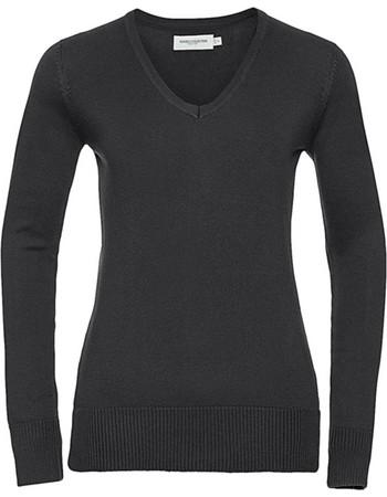 1c269860736b Γυναικείο πλεκτό πουλόβερ V-Neck Russell R-710F-0 - Black
