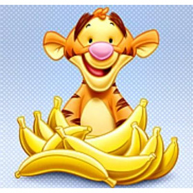 Παιδικό Καδράκι Canvas Baby Pooh Cartoon Tigger Bananas 35X35, C61113-12