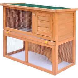 c0c9f2ff695b Κλουβί Κουνελιών Σπίτι Μικρών Ζώων Εξωτερικού Χώρου με 1 Πόρτα Ξύλινο