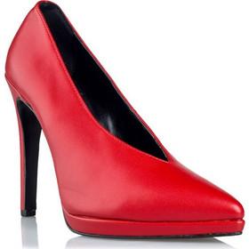 b805e1a1f84 V Neck Pumps Κωδ. E02-08805-30 Χρώμα Κόκκινο. Envie Shoes