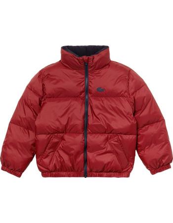 Lacoste παιδικό καπιτονέ μπουφάν με ενσωματωμένη κρυφή κουκούλα - BJ8789 -  Κόκκινο f95415c809f