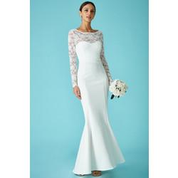 bridal backless bow νυφικό φόρεμα offwhite 5ab49a8ba65