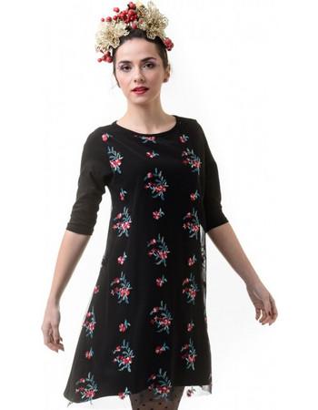 Μαύρο Φόρεμα Α γραμμή με Δαντέλα Τούλι 93682fbe6a9