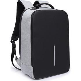 ac61e35a5e Σακίδιο πλάτης αντικλεπτικό TRV-004 pakoworld γκρι-μαύρο με usb+Laptop 15  064