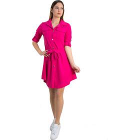 8b9eb3a2c525 Γυναικείο φούξια πουκαμισοφόρεμα με χρυσά κουμπιά 5005M