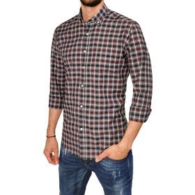 c0483680b677 Ανδρικό πουκάμισο CLAYTON - Ανθρακί