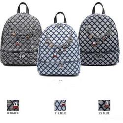 bfb64480916 Τσάντα Πλάτης Με Σχέδια Και Αλυσίδα