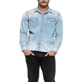 eb2146132dec Ανδρικά Πουκάμισα Replay Mens Shirts Γαλάζιο M4860M.000.26A-776