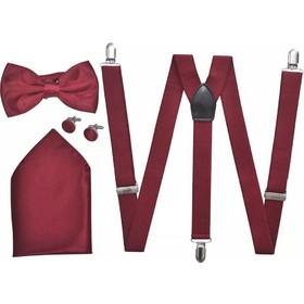 27917dd7488d Ανδρικά Αξεσουάρ Κοστουμιού Black Tie-Σμόκιν Τιράντες Παπιγιόν Μπορντό