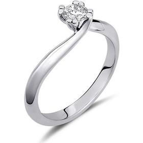 Μονόπετρο δαχτυλίδι από λευκό χρυσό 14 καρατίων με πέτρα Swarovski. PLL083 bc389e1220f