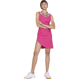 84c7d132731d Μονόχρωμο μίνι φόρεμα με δέσιμο - Φούξια
