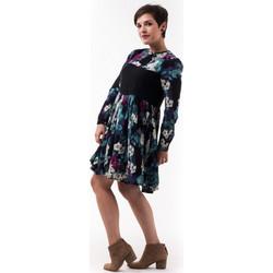 539bdd9987a8 Φλοράλ Κοντό Φόρεμα με Δαντέλα Μαύρη