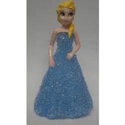 cd64713484b8 Διακοσμητική Led Μινιατούρα Πριγκίπισσα Έλσα Με Γαλάζιο Φόρεμα