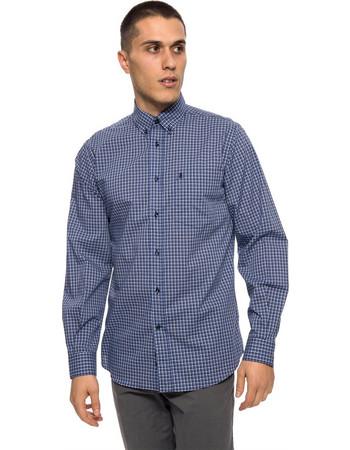The Bostonians ανδρικό πουκάμισο καρό - AACH7386 - Μπλε e403d811131