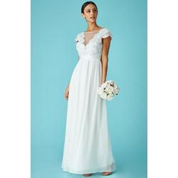 delicate bridal V tulle off white νυφικό φόρεμα 415ad97f1fe