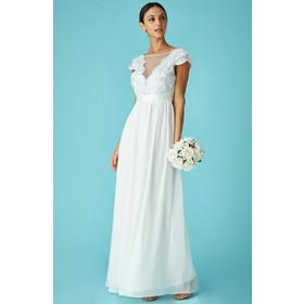 delicate bridal V tulle off white νυφικό φόρεμα 8d4d276d80b