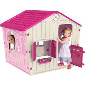 3b2bae4db462 Παιδικό Σπιτάκι Κήπου 140x108x115.5cm Galilee Village House Ροζ με Φούξια Σκεπή  STARPLAY