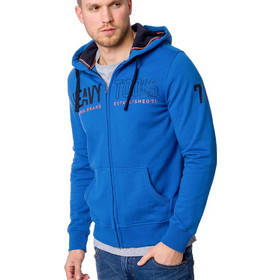 90c19a4544c5 Ανδρικό Ζακέτα Φούτερ με Κουκούλα Small French Terry HOODIE HEAVY TOOLS  SHRIMP Μπλε